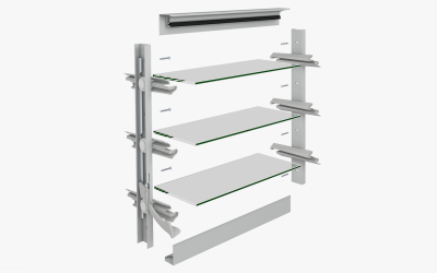 DIY Louver Exploded view